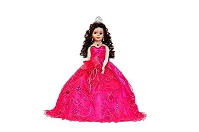 "18"" Porcelain Quinceanera Umbrella Doll (Table Centerpiece)~ Fuchsia ~ KK18725-9"