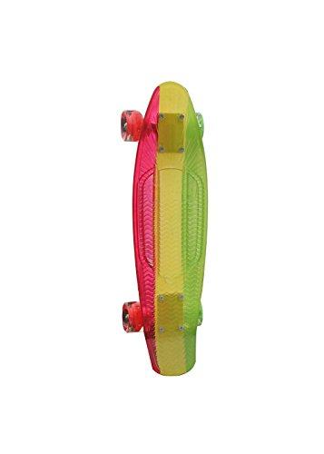Sunset Longboard Rasta Graphic Complete LED Cruiser, 22 Zoll, 1201000103