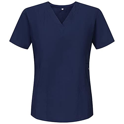 MISEMIYA - Arbeitskleidung Frau Kurze ÄRMEL UNIFORM KLINIK Krankenhaus Reinigung TIERARZT Gesundheit GASTGEWERBE Ref.707 - XX-Large, Marineblau