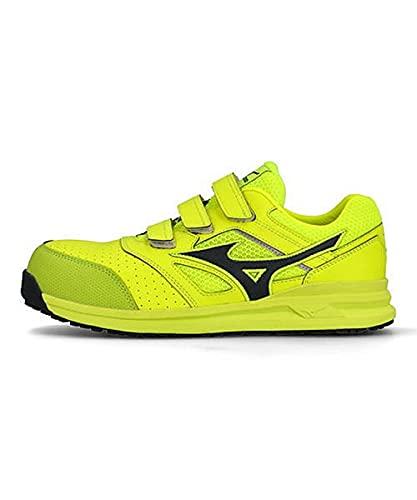 [ミズノ] メンズ プロテクティブ スニーカー 作業靴 オールマイティLS222L つま先保護芯 軽量 3E 幅広 カジュアル ウォーキング ALMIGHTY LS 2 22L F1GA2101 イエロー/ダークグレー 28.0cm