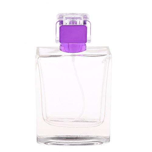 Odoukey 100ml Botellas de Perfume atomizador portátil con Bomba del pulverizador Vaciado de contenedores de estética para Purple viajeros
