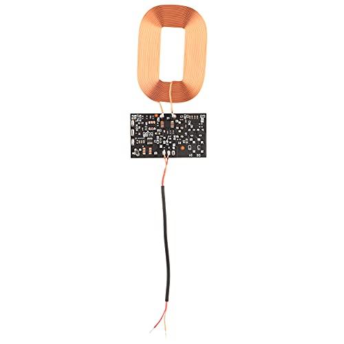 Bobina de Placa de Circuito inalámbrico Qi, módulo Receptor de Carga inalámbrico estándar Qi de 5 V 1 A, con módulo Receptor de Espaciador magnético para teléfonos domésticos estándar Qi