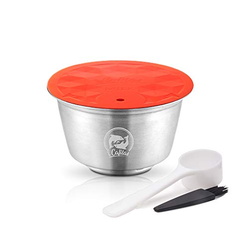 Cápsulas de Leite de Aço Inoxidável Compatível com Máquina de Café Dolce Gusto, Mini Me, Piccolo, Genio, Esperta e Circolo