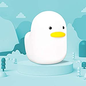 【MUID Original Authentic】Dull Duck Night Light, Nursery Squishy Night Lamp, Silicone NightLights for Breastfeeding, Cute Animal Bedside Lamp, with Touch Sensor for Bedroom Best Gifts for Baby Kids