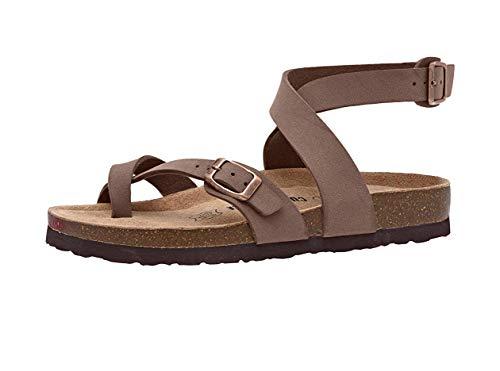 CUSHIONAIRE Women's, Lara Footbed Sandal 9 M Brown