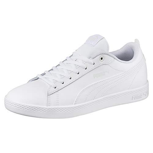 PUMA Smash v2 Leder Damen Sneaker Puma White-Puma White 3