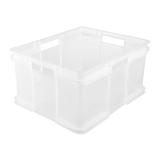 keeeper Euro-Box Bruno - transparent - 52 x 43 x 28 cm