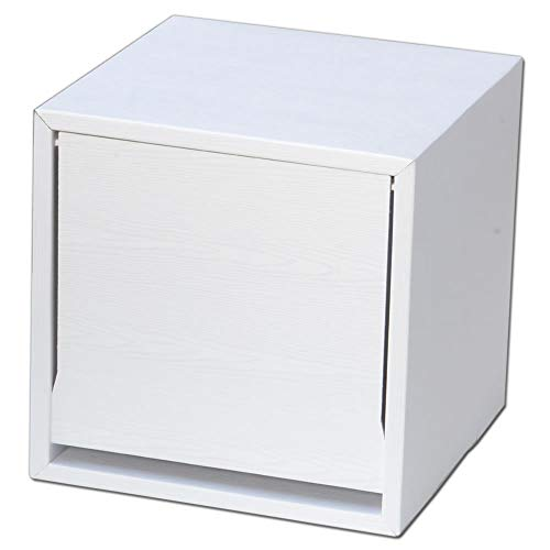 キューブラック ウッドシリーズ 1ヶ入り (ホワイト) 軽量家具ブランドGravif(グラヴィフ) ダンボール製