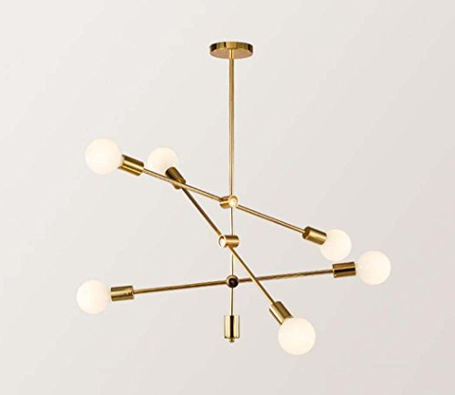 LED hanglamp, creatieve platen goud geometrische lijnen smeedijzeren hanglamp, postmodern restaurant woonkamer café kunst kroonluchter E27 zonder lichtbron