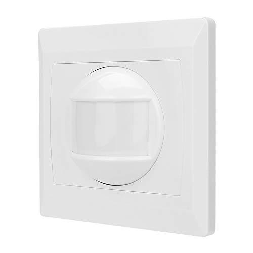 Tosuny Sensor de Movimiento, Cuerpo de conexión con Cable Sensor de Movimiento Detector infrarrojo PIR para prevención de Seguridad en áreas residenciales Familiares.