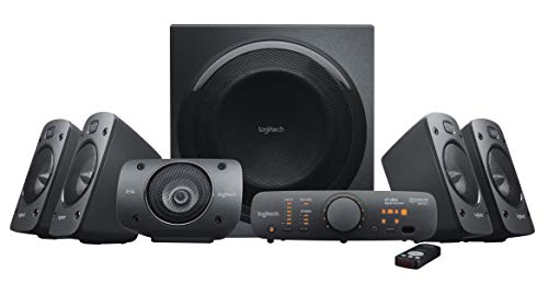 Logitech Z906 5.1 Surround Sound Speaker System - THX, Dolby Digital and DTS Digital Certified, Black