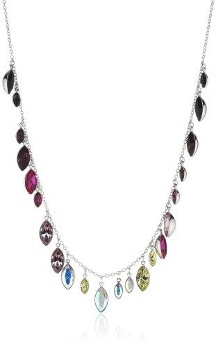 Swarovski Damen-Halskette Palladium Tody Thin Kristall violett/blau/rosa/gelb 40 cm 1181272