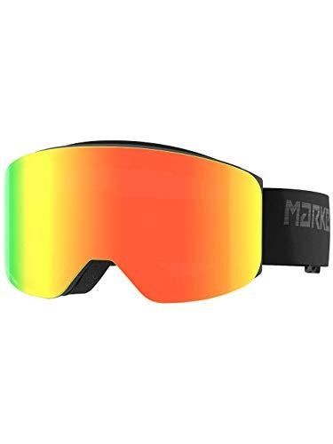 Marker Unisex– Erwachsene Squadron Black w/RED Plasma Mirror Skibrille, Einheitsgröße