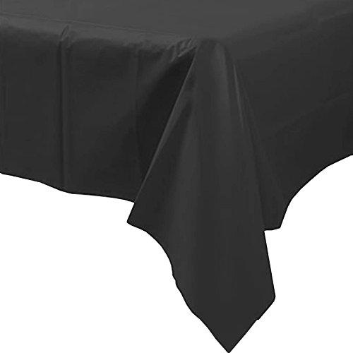 Unique Party Party desechables de plástico mantel (negro)