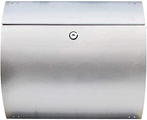 FANNISS /Buzones,Buzones con Sistema de Seguridad,Buzón de Correo Bloqueado montado en la Pared Buzón de Correo montado en la Pared, buzones para buzón de Seguridad Exterior Buzón de Acero inoxida