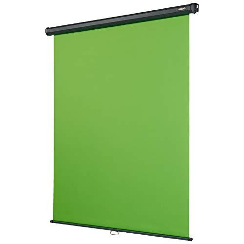 celexon Rollo Chroma Key Green-Screen zur Deckenmontage 200 x 190 cm - professionelle Studiokulisse/Hintergrund für Video-Übertragung,...