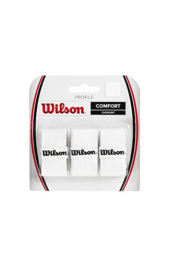 Wilson Profile Overgrip für Tennisschläger, 3er Pack, weiß, WRZ4025WH