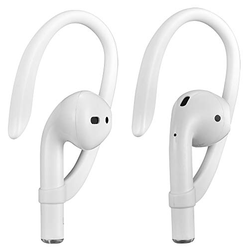 Earhooks for AirPods 1 2 and Pro, ICARERCASE Sports Activities Headset ear hook for Apple AirPods 1 & AirPods 2 & AirPods Pro (White)
