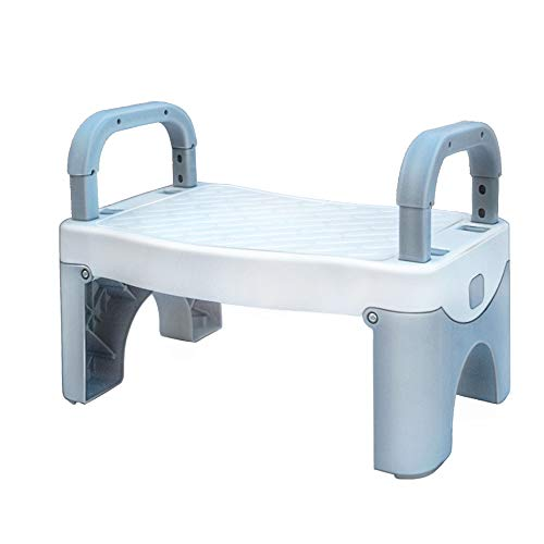 Folding Step Stool for Kids Toddler Stool with Handle Toddler Step Stool for Boys and Girls Suitable for Bathroom Sink Toilet Kitchen Toddler Potty Training Kids Step Stool  Gray