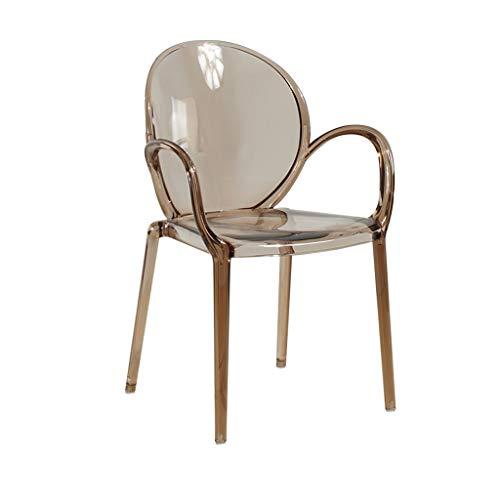 ☀ JBD Creative Transparent Chaise de Bar Cristal Acrylique Tabouret Haut Designer Siège de Mannequin pour Le comptoir de café (Couleur : Ambre)