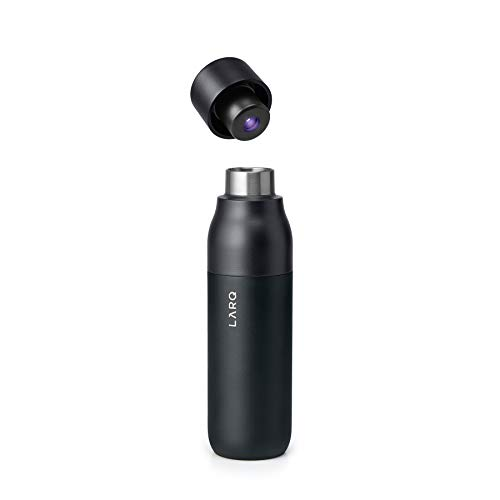 LARQ Bottle - Self-Cleaning and Insulated Stainless Steel Water Bottle with Award-winning Design and UV Water Sanitizer, 17oz, Obsidian Black