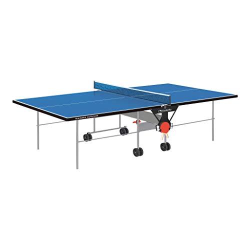 Garlando Tavolo da Ping Pong Training Outdoor con Ruote per Esterno Blu