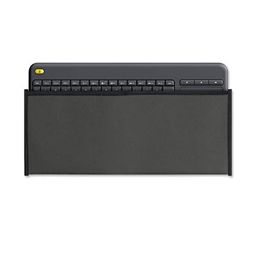 kwmobile Funda Protectora para Teclado Logitech K400 Plus (Wireless Touch) - Cubierta para el Polvo o derrames en Gris Oscuro