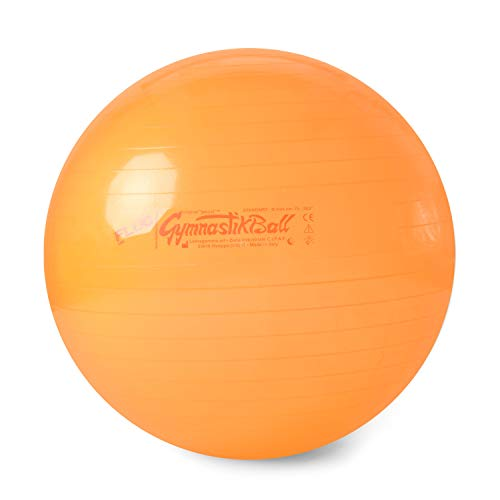 Pezzi Original Gymnastikball MAXAFE /Ø 42 cm bis 75 cm inkl Ballschale bis 400 kg belastbar Training Fitness Reha Therapie Sitzball Gymnastik Ball B/üro Sport
