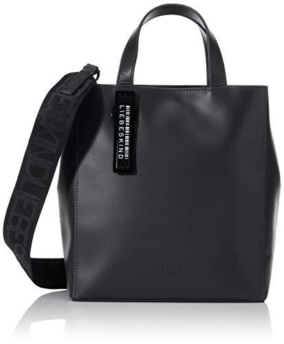 Liebeskind Berlin Damen Paper Bag Tote Handtasche, Schwarz (Black), Small