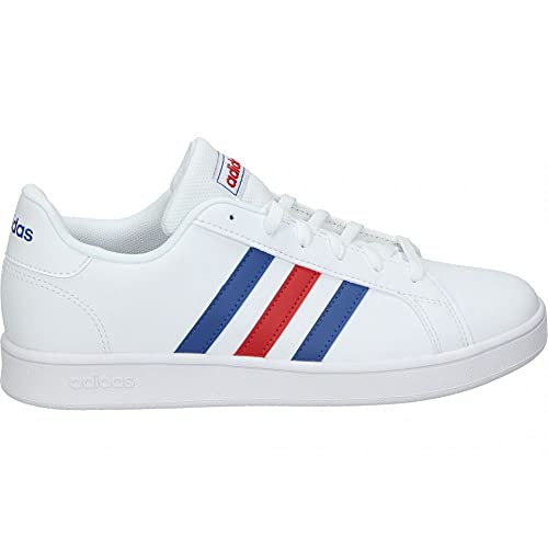 adidas Grand Court K,  Zapatillas de Tenis Unisex Adulto,  FTWBLA/AZUREA/Escarl,  39 1/3 EU