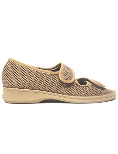 Zapatillas de Estar por casa para Mujer Especial para Personas Mayores Ancianos Ancho Especial Campello 5822 Beig - Color - Beige, Talla - 38
