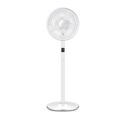 YI0877CHANG Ventilador de Pared Piso Ventilador eléctrico del Ventilador de Escritorio en casa muda Control Remoto de Gran Alcance Vertical de pequeño Ventilador eléctrico 50W Blanco Ventilador