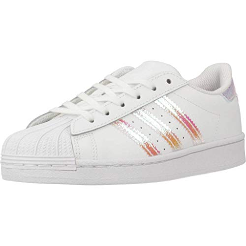 adidas Superstar C, Scarpe da Ginnastica, Ftwr White/Ftwr White/Ftwr White, 34 EU