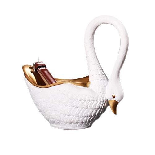 Cuenco para llaves en la mesa, bandeja creativa, decoración con forma de cisne, cuenco de resina para llaves, mesa de té, cafés, bares de joyería (color: estilo 1)