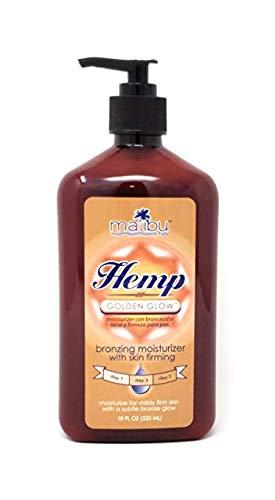 Malibu Tan Hemp Golden Glow Skin Firming Bronzing Moisturizer,18 fl oz (530 ml) - 1-PACK