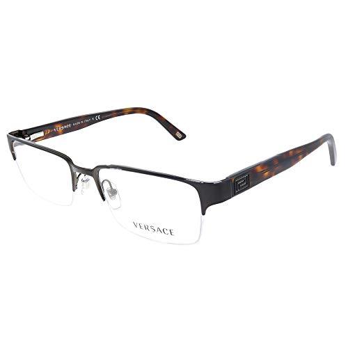 Versace VE 1184 1269 Brushed Brown Metal Rectangle Eyeglasses 53mm