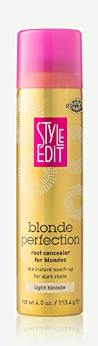 Style Edit LIGHT BLONDE Root Concealer Touch Up Spray   Instantly Covers Grey Roots   Professional Salon Quality Cover Up Hair Products for Women  4 Ounce (Pack of 1)