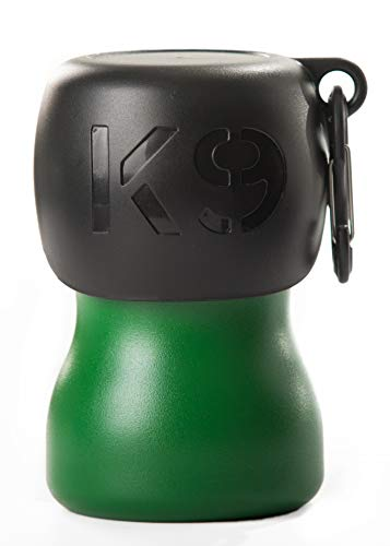 H2O4K9 Stainless Steel K9 Water Bottle (9.5oz, Matte Green)