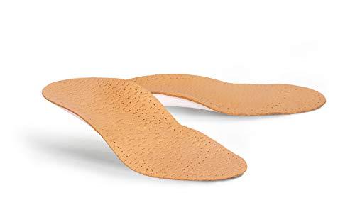 Kaps Orthopädische Leder Einlegesohlen für Kinder – Kinder Schuheinlagen bei Plattfuß, Senkfuß, Plano-Valgus – mit Bogenunterstützung und Fersenstütze Apoyo Kids (21-22 EUR)