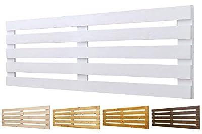 Color: Blanco. Medidas: 110 cm de largo y 60 cm de ancho. Para camas de 80 cm , 90 cm y 110 cm 🌲LOS MATERIALES DE NUESTROS PRODUCTOS 🌲: Nuestros productos son fabricados con madera nueva maciza de pino de 1ª calidad. 🌲DECORACIÓN INIGUALABLE🌲: Con los...