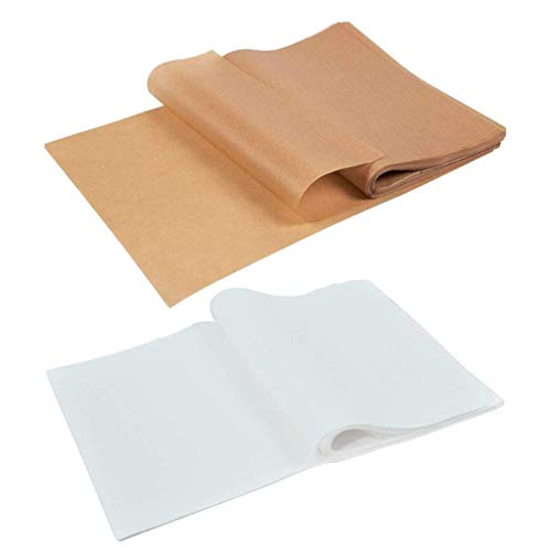 Juego de 100 piezas de papel de pergamino resistente al agua, antiadherente, para freidoras de aire para hornear, asar, hogar