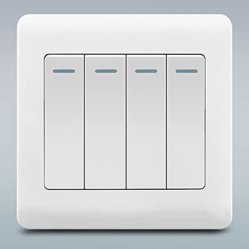 Interruptor De Luz De Pared Blanca 86 Tipo 1-4 Interruptor De 2 Vías Interruptor Retardante De Llama Retro Interruptor De Palanca Intermedio Interruptor De Control Oculto