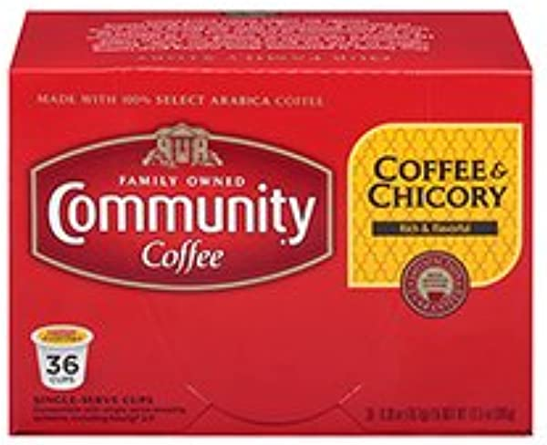 Community Coffee Coffee Chicory 36ct Single Serve Coffee Pods Compatible With Keurig K Cup Brewers Medium Dark Roast