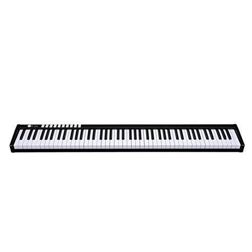 Affordable 88 Keys Digital Home Piano Built-In Dual Speakers, Built-In Rechargeable Battery, Bluetoo...