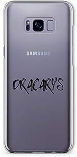 ZOKKO Case for Samsung S8 Plus Dracarys Transparent Soft Ink Black