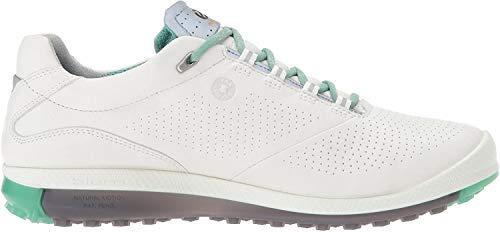 ECCO Damen Women's Golf Biom HYBRID 2 Golfschuhe, Weiß (White/Granite Green), 40 EU