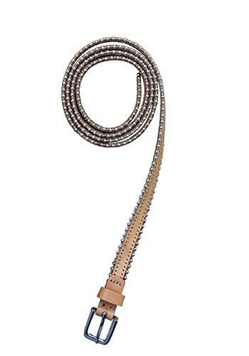 Drykorn Gürtel BEAD_2 Leder Kettenbesatz Metallschließe camel Größe 90 cm