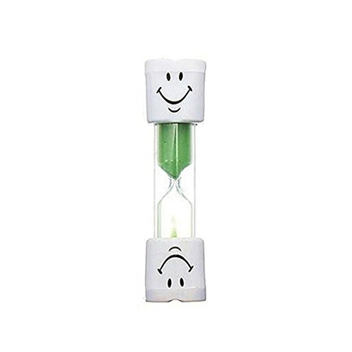Dabixx 2 Minute Smileys Sanduhr Kinder Zähneputzen Timer Uhr Wohnkultur Verführerisch-Grün