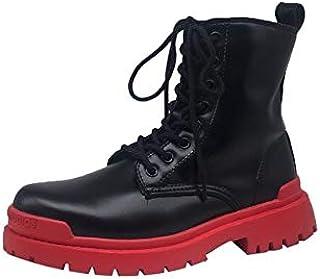 أحذية طويلة حتى الكاحل - أحذية نسائية فاخرة ماركة Designer Brand 2020 Pink Girl Series جزمة عصرية للكاحل للنساء أحذية ذات ...