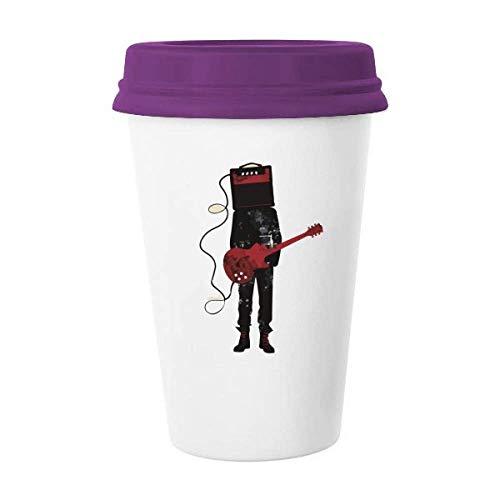 Guitarra Instrumentos de música Crazy Man Taza de café de cerámica Taza de cristal de cerámica de regalo